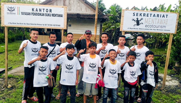 Suku Mentawai Education Foundation with a team of Mentawai students