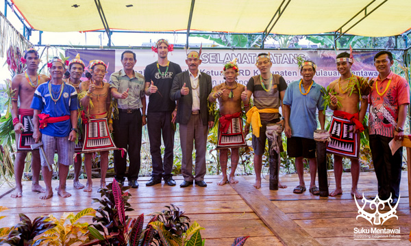 Suku Mentawai Education Foundation gather together with the local community to support their cultural education program