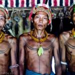 Three Mentawai Sikerei (shaman)